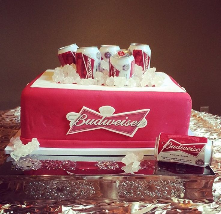Grooms cake by Icing on the Top, one of our package vendors. Budweiser ice chest