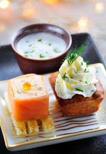 recette à base de fruits de mer : duo de la mer, recette à base de saumon, recette de poisson - Apéritif dinatoire facile