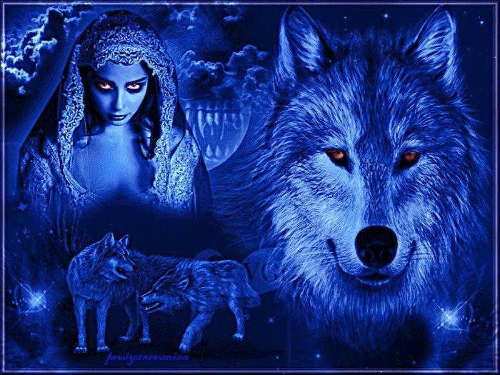 картинки гифы красивые волки
