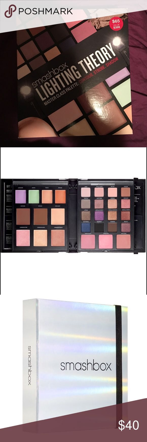 SALE! Early Black Friday! Smashbox Lighting Theory Brand new!!! Never even opened smashbox lighting theory master class palette. This is a beautiful palette. Great value overall :) Smashbox Makeup