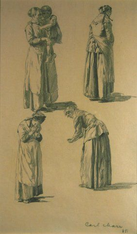 Figure Studies, 1885, Carl von Marr, Museum of Wisconsin Art, 0350.