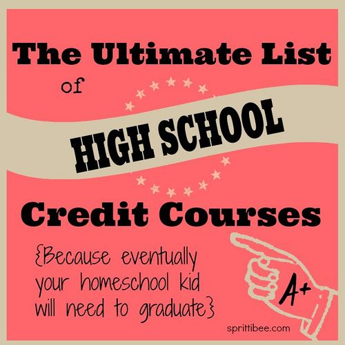 Mega list of credit courses and a sample 4-year schedule.