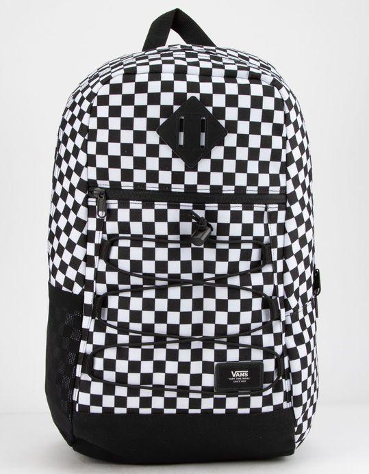 74f2ac4de VANS Snag Checkered Backpack - BLKWH - VN0A3HCBHU0 | Tillys ...