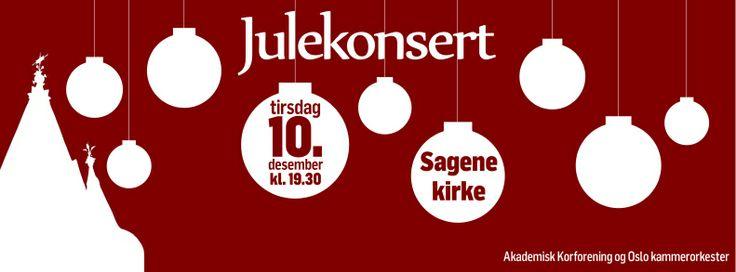 Plakat julekonsert 2013. Christmas concert poster. Illustrations. Graphic design. Christmas decorations. Facebook banner.