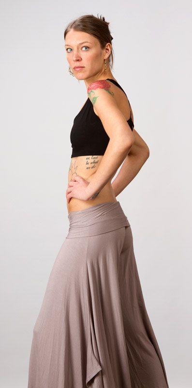 Paris Flared Leg Pants in Ash for Womens Spring Fashion by Paramita Designs Womens Yoga Clothing on Etsy, $72.00