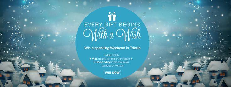 Visit tresorhotels.com & #win a #weekend in #Trikala, at Ananti City Resort & #horseriding in #Pertoul!
