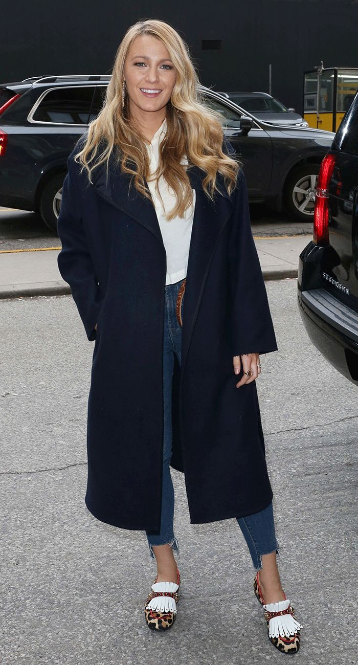 Every Girl Will Love Blake Lively's Chill Denim Outfit via @WhoWhatWear