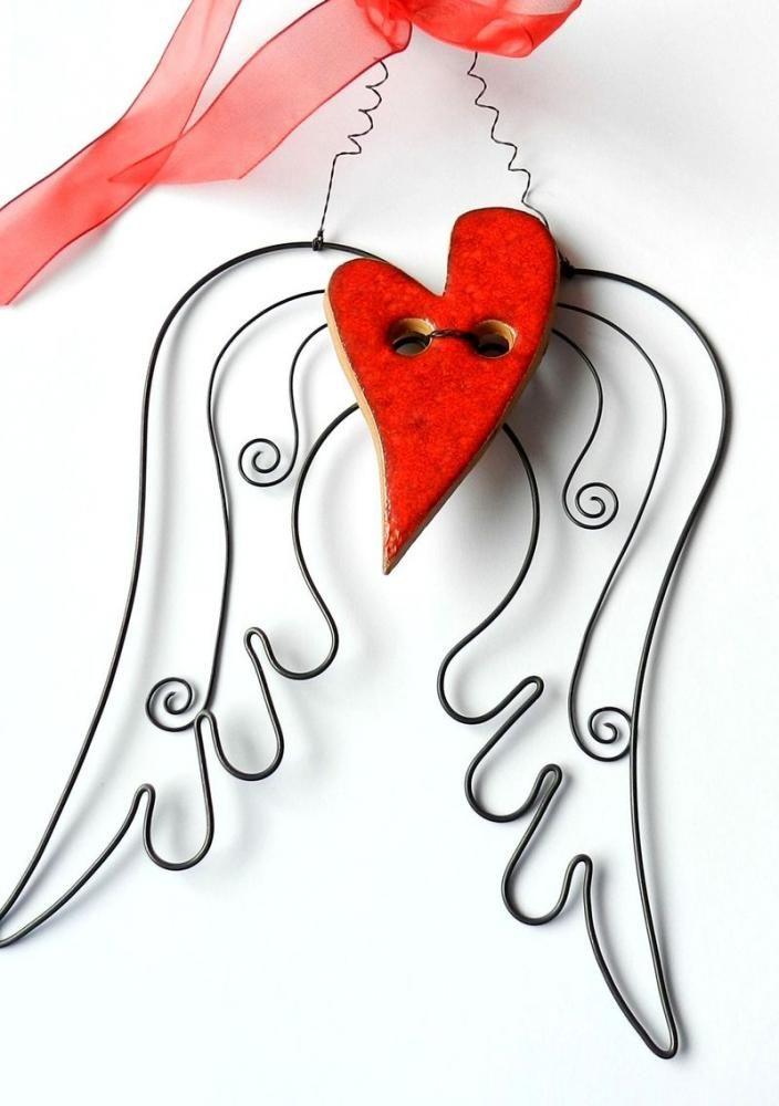 Dekorácie - anjelské krídla - na ochranu... - 1770019