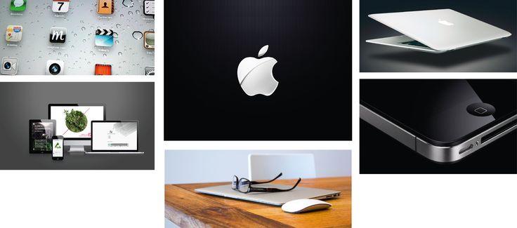 Minimalisme: Apple maakt gebruikt van een minimalistisch, modern en strak design. Meestal worden de kleuren zwart, wit of grijs gebruikt om dit design nog meer te versterken