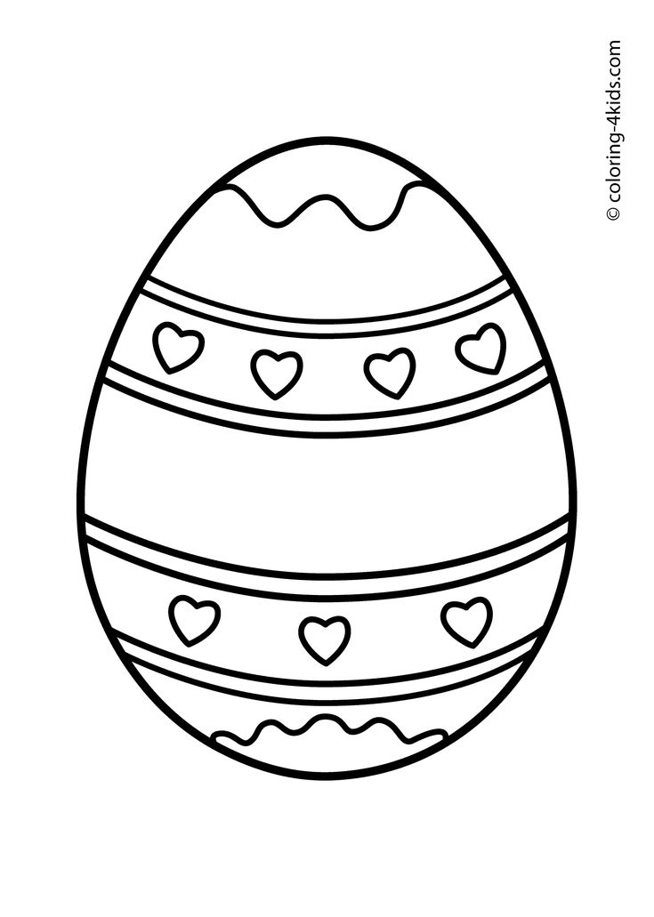 Easter coloring pages Easter eggs