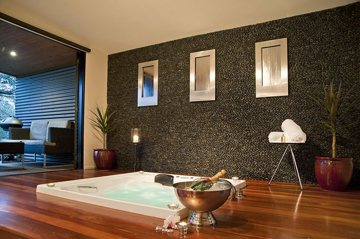 Indulge in your own private indoor spa #romance www.kudosvillas.com.au