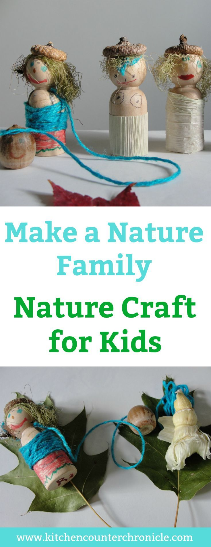 Make A Lovely Nature Family – Nature Craft for Kids
