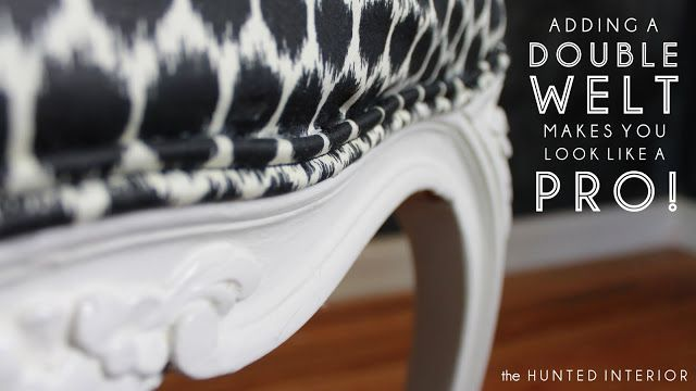 ask prof'l upholsterer to make the double welt and then attach yourself! who knew?