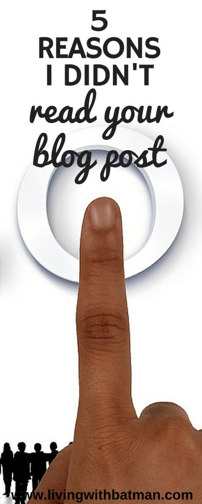 Is your blog traffic low and your bounce rate high? Your blog may not be user friendly. This is my top 5 reasons I didn't read your blog post.