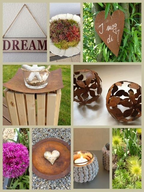 17 besten rostdeko Bilder auf Pinterest Dekoration, Garten deko - gartenaccessoires selber machen