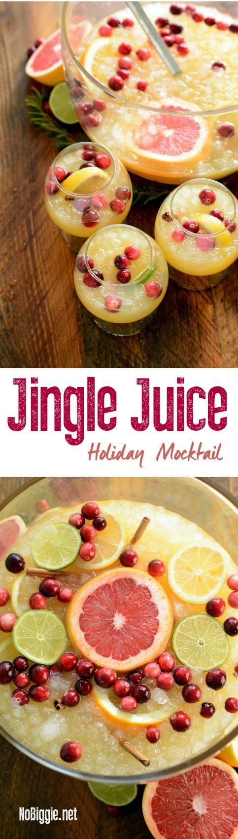 jingle juice holiday mocktail | http://NoBiggie.net #mixedwithTrop #ad