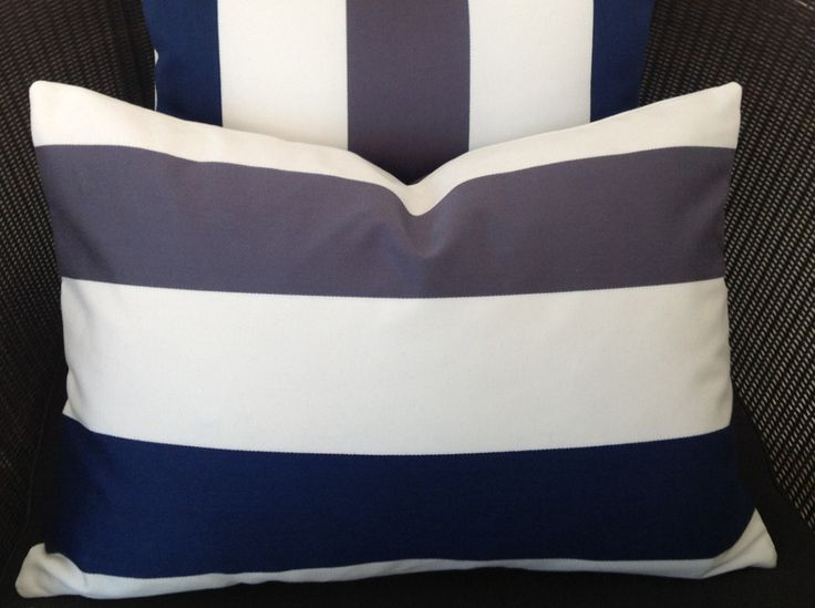 Blue White Grey Rectangle Cushion