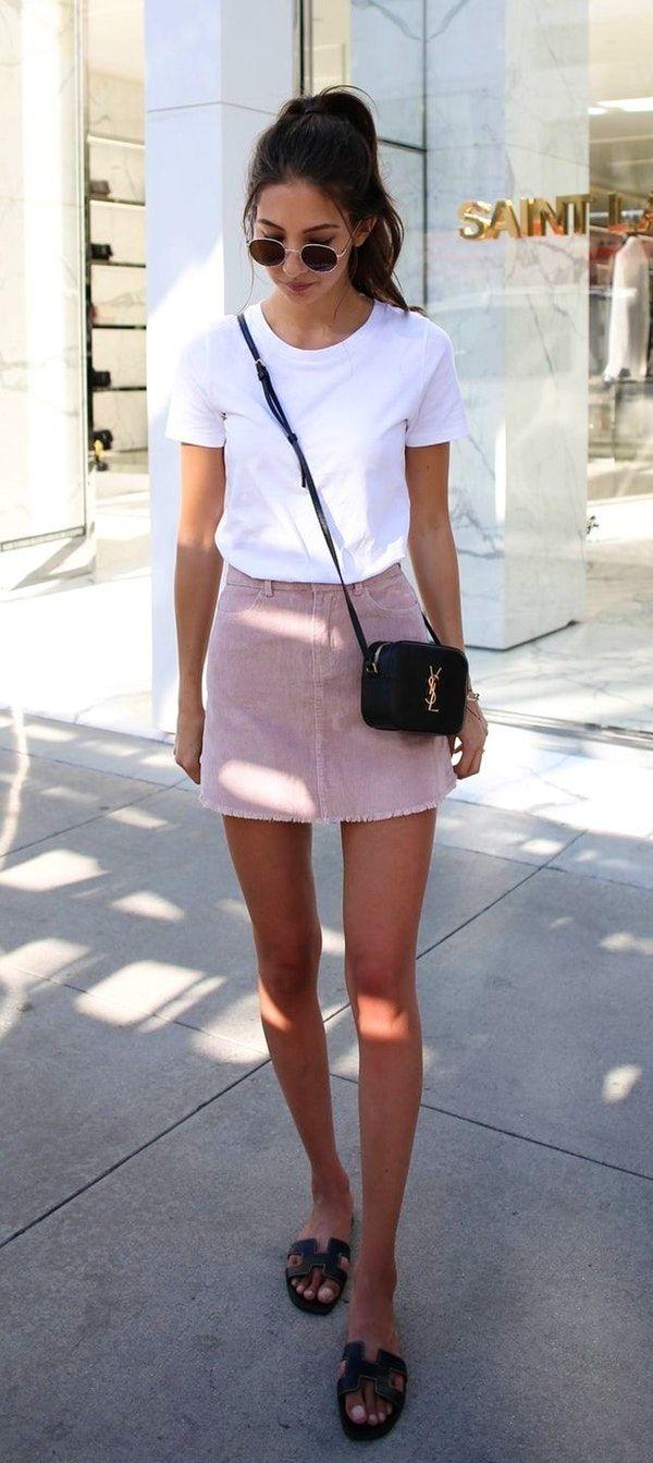 #fall #outfits women's white t-shitr
