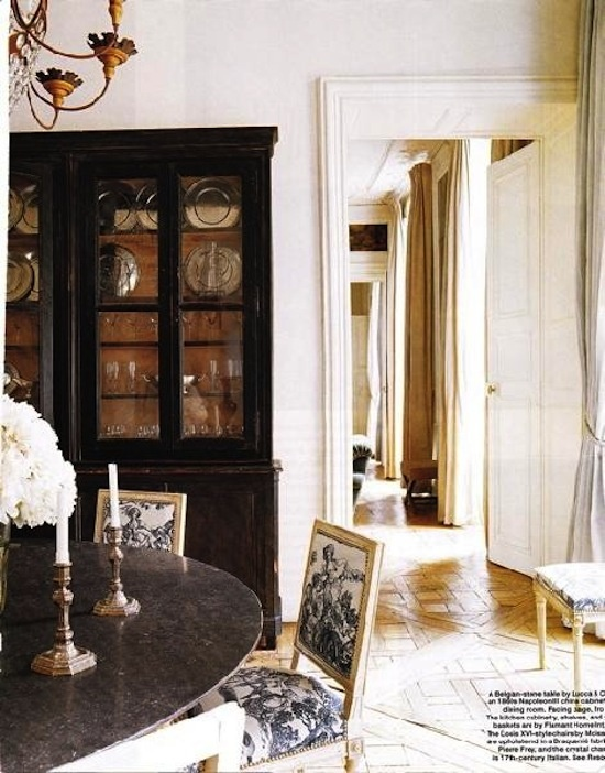 Black Cabinet French Dining RoomsCountry
