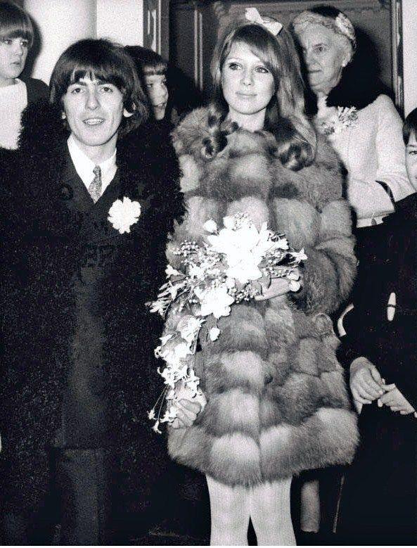 indypendentmusic  George Harrison and Pattie Boyd on their wedding day    George Harrison And Pattie Boyd Wedding