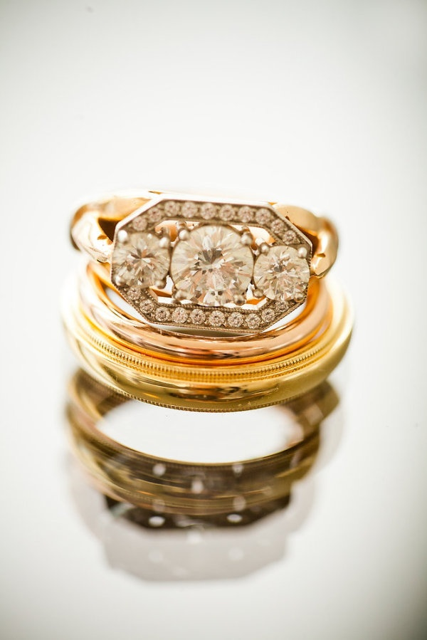 stacks of gorgeous rings are one of our favorite things  Photography by http://daverobbinsphotography.com