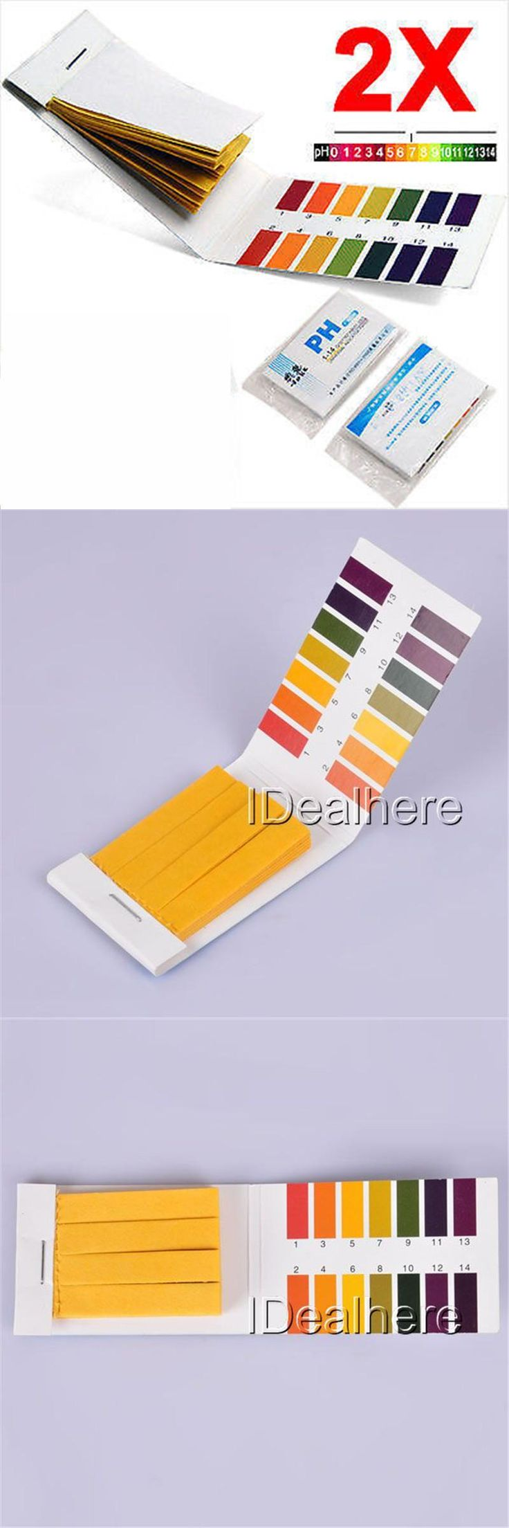 [Visit to Buy] 2x80pcs Litmus Test Paper Strips Easy Use Urine Saliva Tester Scale Indicator PH1-14 #Advertisement