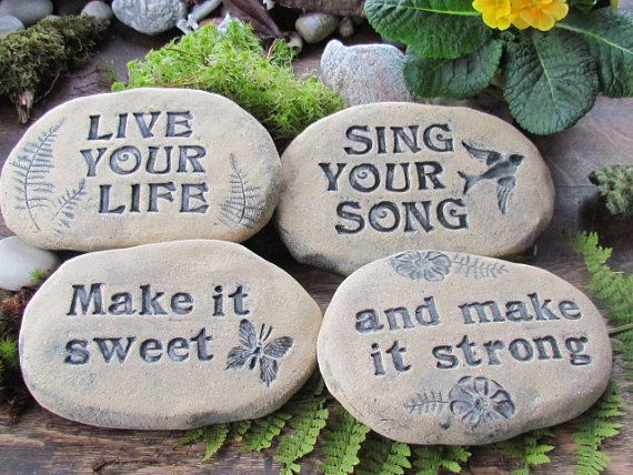 Image result for pottery tablets with inspirational messages