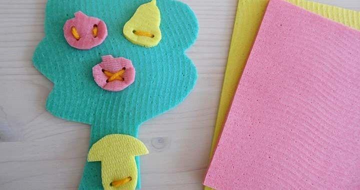 Filléres gyerekjátékok mosogatókendőből