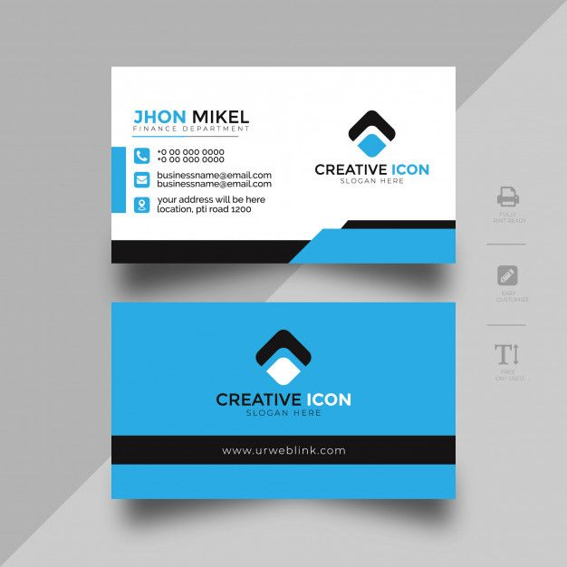 Abstract Business Card Template For Company Business Card Template Business Cards Creative Yellow Business Card