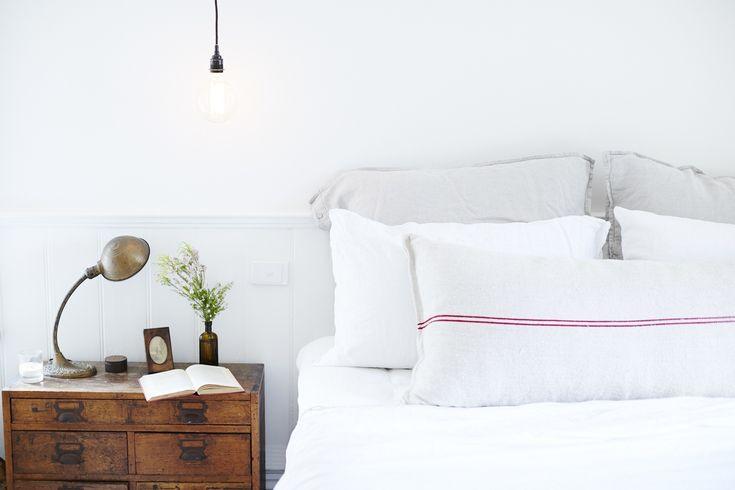 Serene palette // linen pillows