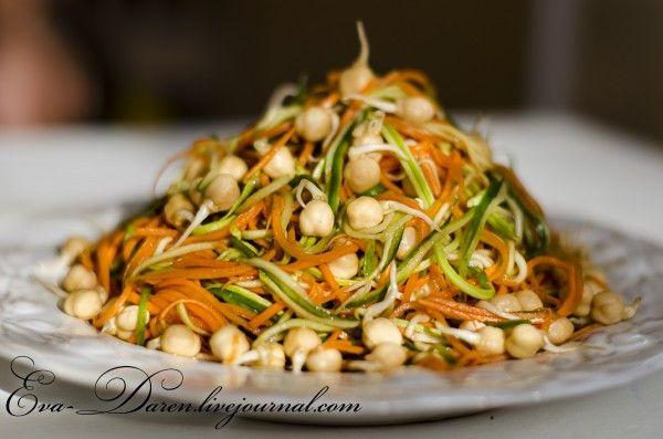 Витаминный салат с проросшим нутом