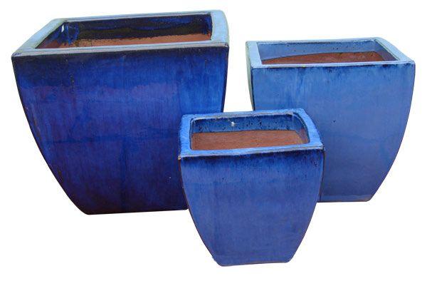 blue ceramic planter - Google Search