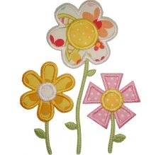 flower garden applique
