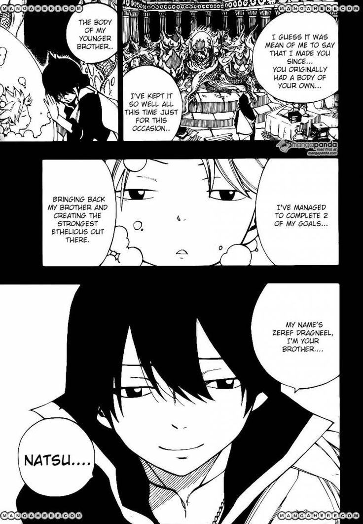 MangaHere Mobile Fairy Tail. END. Natsu Zeref Dragneel. Sibling