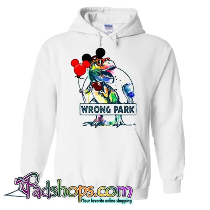 ddb5fd55b Dinosaur T rex and Mickey mouse wrong park Hoodie SL in 2019 ...