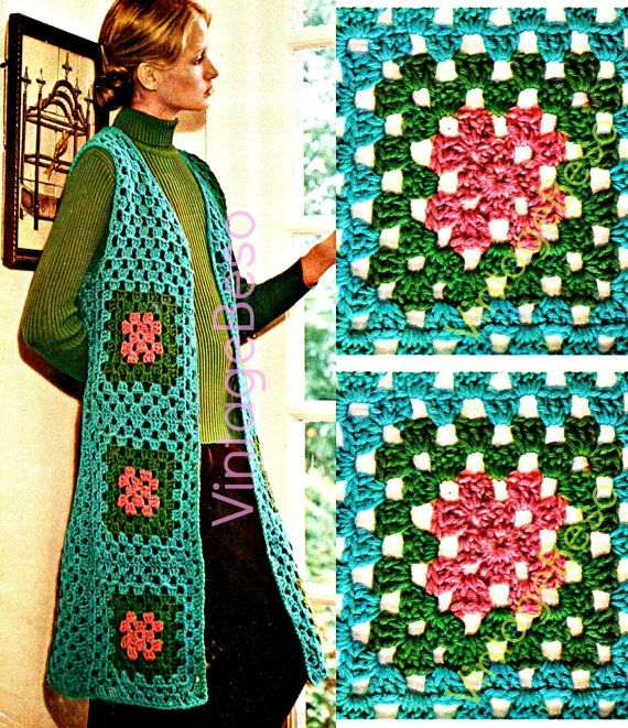Crochet Granny Square Vest Pattern : 17 Best images about Granny square love on Pinterest ...