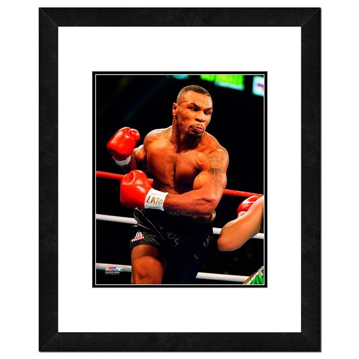 """Mike Tyson 1995 Action Framed 11"""" x 14"""" Photo, Multicolor"""