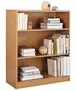 Maine Small Extra Deep Bookcase Oak Effect