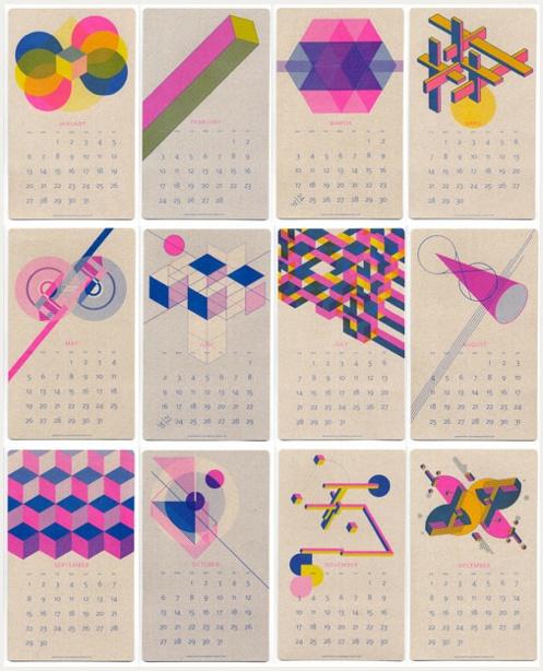 Colourful Geometric Calendar