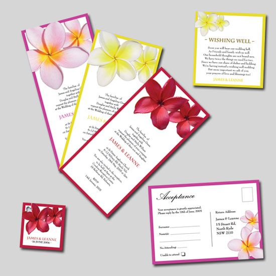 Frangipani Wedding Invitations & Stationery