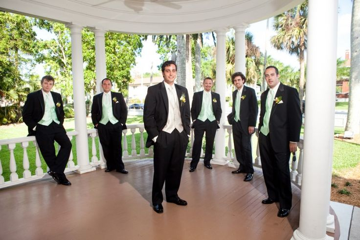 Help matching groomsmen to bridesmaids! :  wedding 25 Groom Groomsmen Green Vests Pavilion