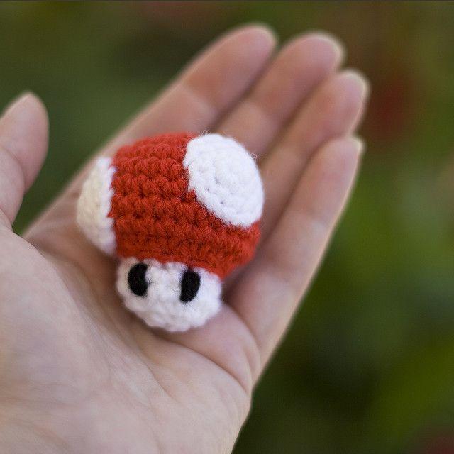 Mini Mario Mushroom to Scale by Amy Dianna, via Flickr