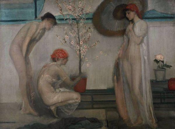 James Abbott McNeill Whistler, Tre figure, Sinfonia in rosa e grigio, 1868-1878