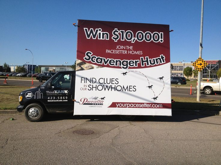 Pacesetter's Scavenger Hunt Advan hit the streets last week. Keep your eyes peeled for it as you drive around the city #outofhomemarketing #outdooradvertising #alternativeadvertising