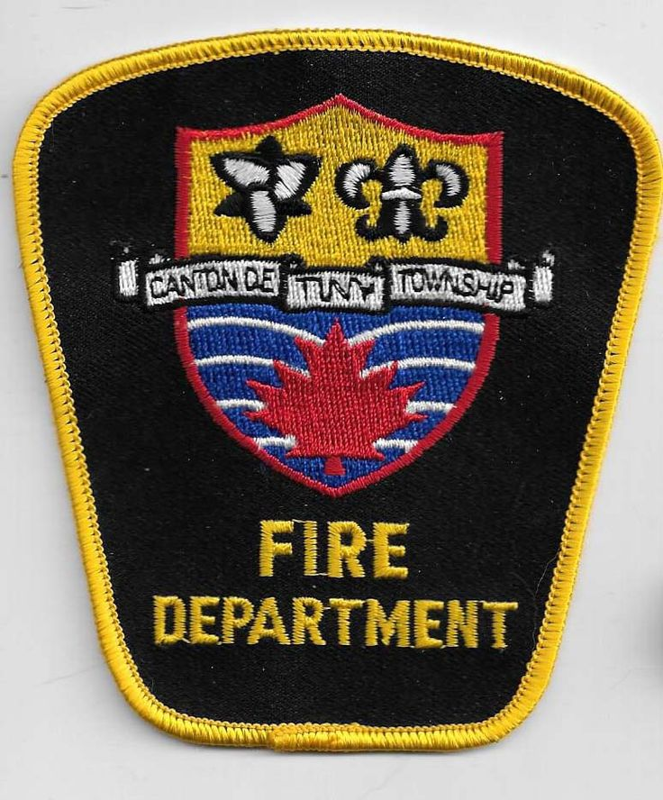 Tiny Township Fire badge, Fire department, Police patches