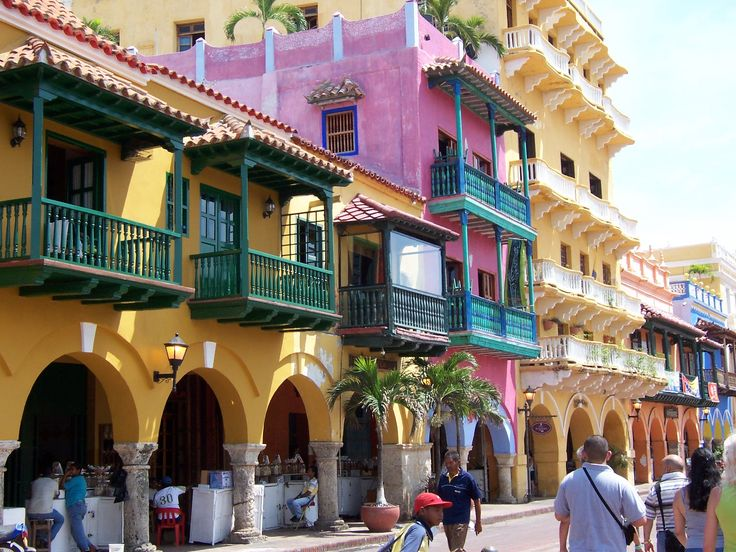 beautiful colors of Cartagena de Indias (of the West Indies) Colombia