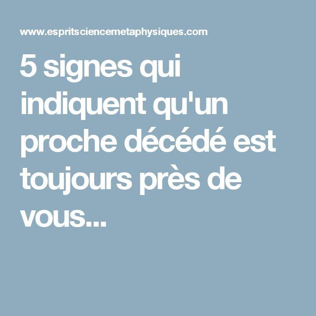 5 signes qui indiquent qu'un proche décédé est toujours près de vous...