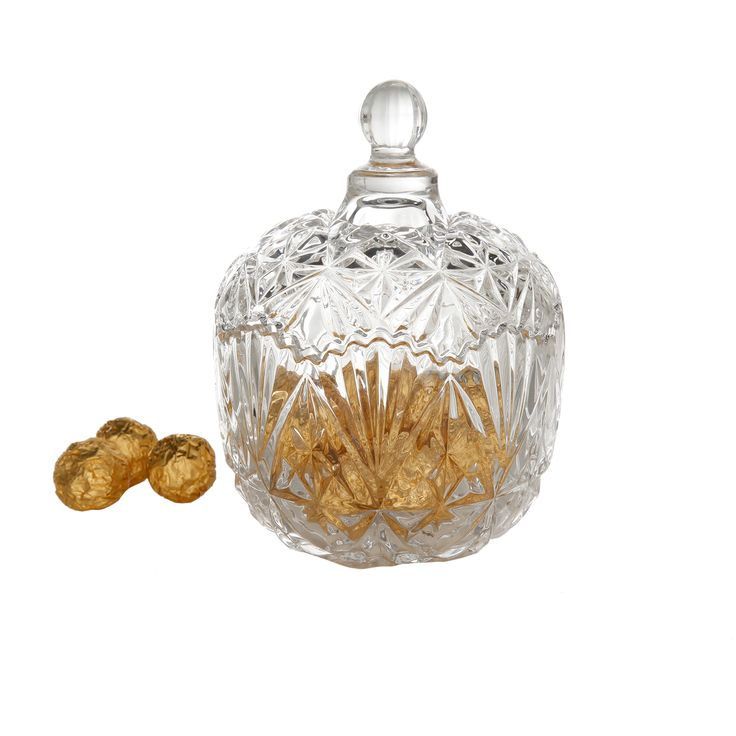 Gibson Jewelite Serve Bowl with Lid, Clear