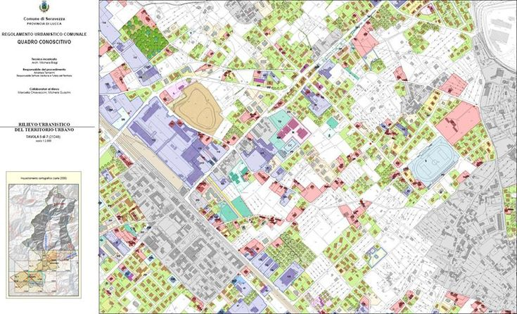 Base dati vettoriale, stampa delle tavole e SIT del PRG di Seravezza, Seravezza, 2011 - GeoInformatiX, Alberto Antinori