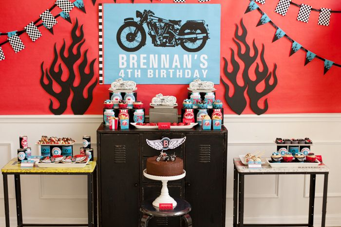 Motorcycle Party Guest Dessert Feature   Amy Atlas Events